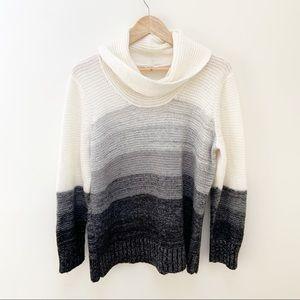 Calvin Klein ombre cowl neck sweater L